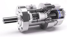 Der hydraulische Drehantrieb I-DA-H für Industrie, Maschinen- und Anlagenbau.