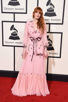 Grammy Awards 2016: Best Dressed on the Red Carpet - Florence Welch-Wmag