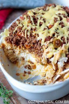 Cremoso é a palavra chave aqui, o creme de queijo e o molho bolonhesa fazem esse…