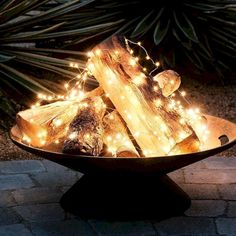 Fire pit idea for when it's too HOT for a real fire!!