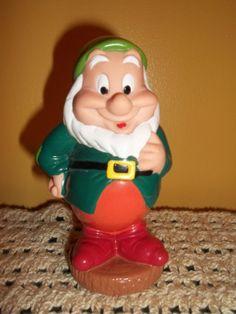 Vintage Disney Toy  Happy Plastic Squeeze Toy by JunkyardElves, $11.95