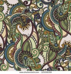 Seamless pattern background. Paisley design