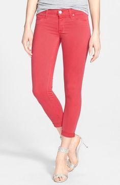 Hudson Jeans Crop Super Skinny Jeans (Soft Parade) available at #Nordstrom