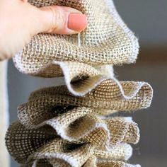Add a litttle rustic charm to your tree with this easy burlap garland.