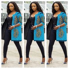 Reversible Ankara jacket, African print jacket, African women jacket Same fabric unavailable. There are many fabrics to choose from. Made to order and shipped from Houston Texas. African Attire, African Wear, African Women, African Dress, African Style, High Street Fashion, Blazer Fashion, Kimono Fashion, Ankara Stil