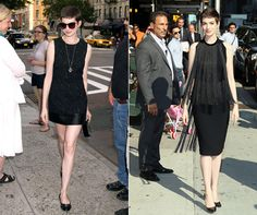 Anne Hathaway is having a chic, gamine moment with that pixie crop 'do.