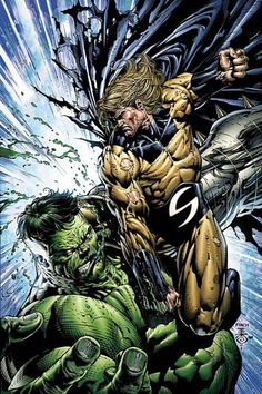 ArtVerso — David Finch - Sentry vs Hulk ..... !!!!