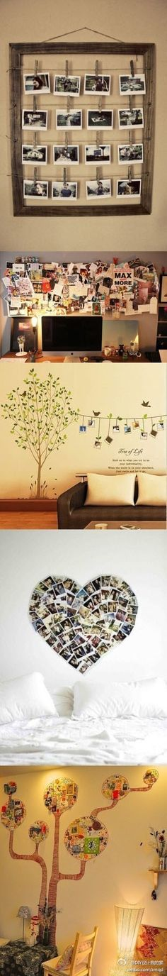 DIY decorating your wall - these would be cute in dorm rooms!