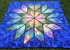 Prismatic star - not crocheted, but quilted - it's beautiful!!