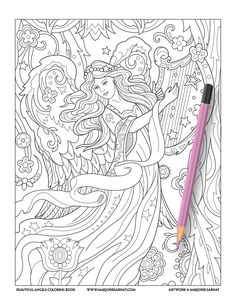 The 64 best Angels Coloring Pages for Adults images on Pinterest ...