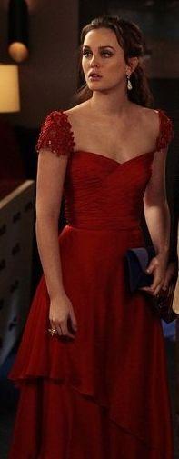 Leighton Meester. Blair. Gossip Girl. Reem Acra Resort 2012