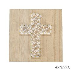 Celebrate your spirituality and creativity all at once! A fun and faith-filled way to make DIY décor, this kit includes everything needed for a string . String Art Letters, String Wall Art, Nail String Art, String Crafts, Vbs Crafts, Diy Arts And Crafts, Easter Crafts, Nail Art, Diy Crafts Butterfly