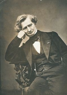 Hector Berlioz (1803-1869), photograph (1863), by Pierre Petit (1831-1909).
