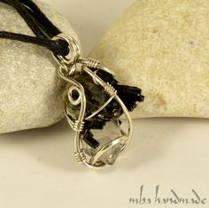 Quartz Point with Epidote Crystal Necklace 925 Sterling Silver Wire Wrapped #MBAHandmade #Wrap
