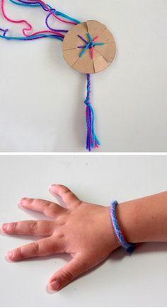 how to make a friendship bracelet with a cardboard loom