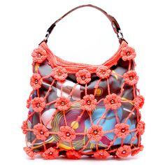 JAMIN PUECH crochet motif purse