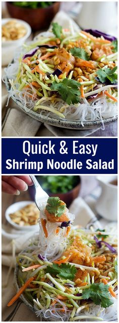 Business Cookware Ought To Be Sturdy And Sensible Make This Quick And Easy Shrimp Noodle Salad Within Minutes And Have A Delicious Meal Full Of Great Flavors. Serve This Dish With A Special Spicy Peanut Sauce For Extra Flavor. Best Salad Recipes, Fish Recipes, Lunch Recipes, Seafood Recipes, Asian Recipes, Appetizer Recipes, Cooking Recipes, Healthy Recipes, Ethnic Recipes