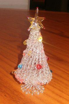 venetian murano vintage spun glass christmas tree. $10.00, via Etsy.
