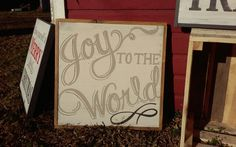 Joy to the World Christmas sign by Jenny at ReStyle
