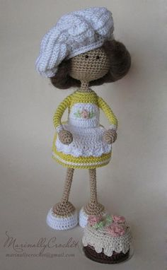Amigurumi doll. Sweet girl