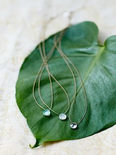 Britta Ambauen Tear Drop Stone Necklace at Free People Clothing Boutique