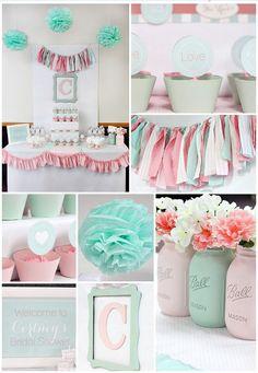 6 ideas que te ayudarán a preparar y organizar una fiesta de baby shower: invitaciones, decoracion, menu, mesa dulce y regalos.