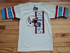 Vintage Houston Oilers XL L Deadstock V-Neck T Shirt NFL VTG by  StreetwearAndVintage dcfafc02b
