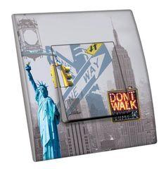 Interrupteur décoré Villes - Voyages / New York 12 simple - Decorupteur
