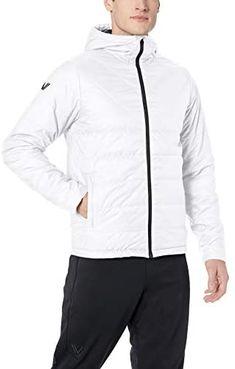 Men's Padded MA-1 Jacket (Grey, Medium) at Amazon Men's Clothing store Ma 1 Jacket, Nylon Bomber Jacket, Gray Jacket, Nike Jacket, Heated Jacket, Mens Windbreaker, Sports Jacket, Jackets Online