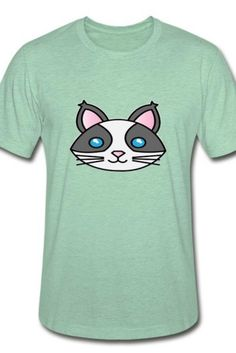 This comfy cat face Unisex Heather Prism T-Shirt is a symbol of cute, funny, cool, unique, and happiness to wear. Modern and handsome, this cat art is truly the perfect gift for any cat lover in your life.