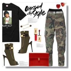 """""""Nasty Nas: Empire State Of Mind"""" by queenvirgo ❤ liked on Polyvore featuring Betsey Johnson, RE/DONE, Giuseppe Zanotti, Marc Jacobs, Alexander McQueen and Yves Saint Laurent"""
