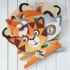 Tiger hanger, kids hangers, wooden hanger, clothes hanger, coat hanger, hangers, kids decor, wooden decor, woodland nursery, nursery decor by MyHappyTeepee on Etsy
