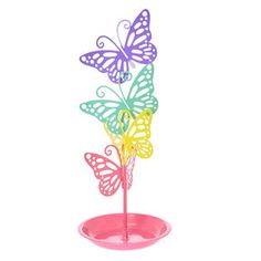 Rainbow Butterfly Jewellery Holder,