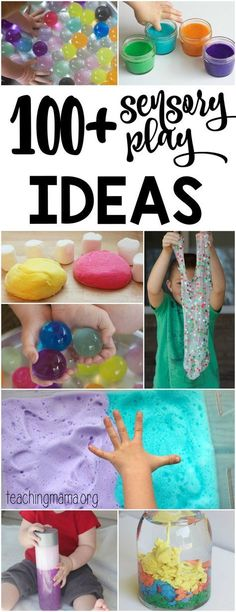 100 sensory play ideas for kids - explore the senses, get a little messy and have lots of fun! Great whether your child has SPD or not, be sure to bookmark this list.