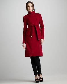 Diane von Furstenberg Sabrina High-Neck Coat
