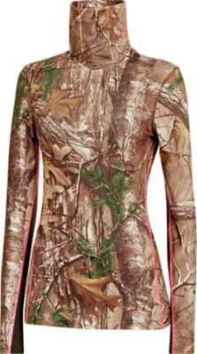 The greatest friend a hunter can have is one that keeps her both warm and undetected. Under Armour's Women's ColdGear Infrared Scent Control Evo Scrunch-Neck Long-Sleeve Shirt combines camouflage and odor-masking Under Armour Scent Control technology with a brushed, moisture-wicking, warmth-locking fabric to make sure you remain invisible and comfortable in the deer stand.
