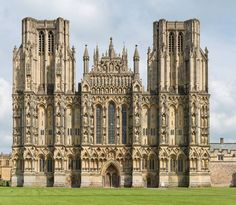 Print of The facade of the medieval Wells Cathedral built in the Early English Gothic style in 1175 Cathedral Architecture, British Architecture, Gothic Architecture, Classical Architecture, Church Of England, Cathedral Church, Anglican Cathedral, Chapelle, Place Of Worship
