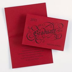 "Design Your Own Announcement - Merlot Design your own announcement with chic, trendy designs.  Dimensions: 6 1/8"" x 4 1/2"" Folded• Price Includes: Your choice of front design and blank, single white envelopes • Production Time: 3 Working Days • The ink color you select will be used for the front design copy as well as the body copy."