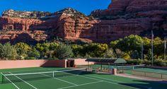 Tennis at Sedona resort in Arizona.