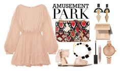 """60-Second Style: Amusement Park"" by anna-gabedava ❤ liked on Polyvore featuring Alexander McQueen, LoveShackFancy, Castañer, Burberry, DIANA BROUSSARD, Kate Spade, Bobbi Brown Cosmetics, amusementpark and 60secondstyle"