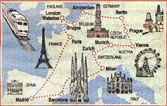 Roteiro para viajar de trem pela Europa