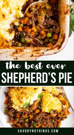 Make the ultimate comfort food for your family: Homemade Shepherd's Pie (or Cottage Pie) with ground beef (or lamb!) – simple, yummy and easy to make. Great for a cold night, perfect for St. Patrick's Day! | #recipe #dinner #easyrecipe #easyrecipedinner #groundbeefrecipes #shepherdspierecipe #comfortfoodrecipes #dinnerideas #irish #irishrecipe #luckoftheirish #familyrecipes Easy Family Dinners, Quick Easy Meals, Simple Meals, Weeknight Dinners, Lamb Recipes, Cooking Recipes, Cottage Pie, Cold Night, Dinner Sides