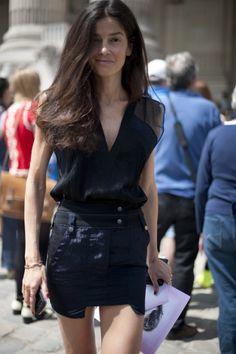 la modella mafia Model off Duty Vogue Spain Fashion Editor Barbara Martelo street style via harpersbazaar