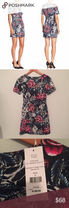 French Connection Midnight Rose dress NWT!  Measurements happily given upon request!  No trades. Reasonable offers welcome 🍾Note: 20% off bundles of 2+ items in my closet! French Connection Dresses