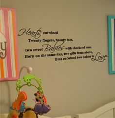 Image detail for -twins quotes I wish I had this when my twins were babies