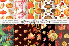 Click here and download the Autumn Pattern Collection graphic · Window, Mac, Linux · Last updated 2020 · Commercial licence included ✓ Art Design, Design Elements, Digital Scrapbook Paper, Digital Papers, Dark Backgrounds, Drawing, Design Bundles, Graphic Illustration, Illustrations