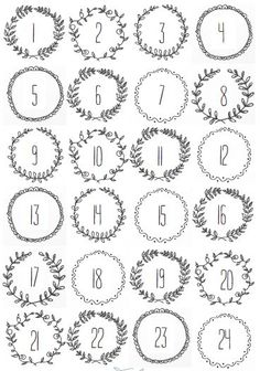 FREE Christmas printables, Stick them to bags or envelopes and hang on a string for a quick and easy Advent Calendar. Advent Calendar numbers to print off. Christmas Calendar, Christmas Countdown, Winter Christmas, All Things Christmas, Christmas Holidays, Christmas Crafts, Christmas Tables, Nordic Christmas, Modern Christmas