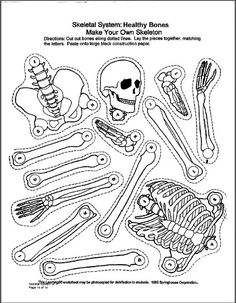 several printable diagrams, printable-skeleton-parts, printable skeleton  diagram