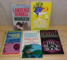 LAWRENCE DURRELL Books Lot of 5 Books Bitter Lemons Black Box Dark Labyrinth ++