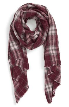 Sole Society Sole Society Plaid Wool Scarf available at #Nordstrom